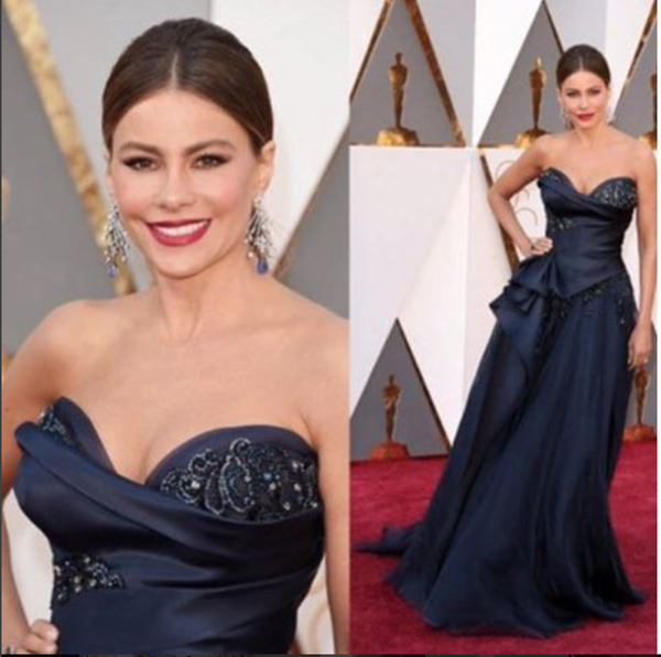 Sofia Vergara graces the red carpet at the Oscars