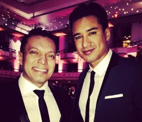 Carlos Anaya and Mario Lopez at the Hispanic Federation Gala 2014, April 23, 2014.