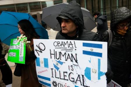 Immigration right's protestors.
