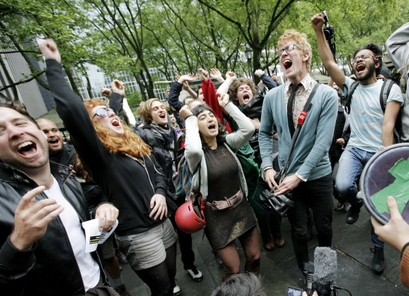 New Yorkers Join the Occupy Wall Street Movement on May Day