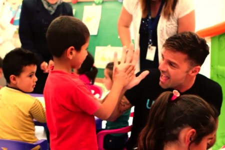 Ricky Martin spends time with children in Lebanon