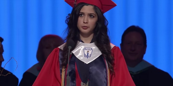 Larissa Martinez used her valedictorian speech to tell her story and reveal her immigrant status in the U.S.