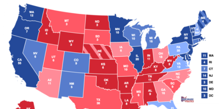 Benchmark Politics Electoral vote map