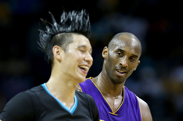 Jeremy Lin and Kobe Bryant