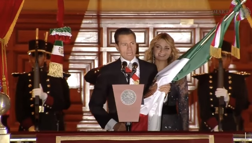 El Grito de la Independencia in Mexico - September 15, 2016