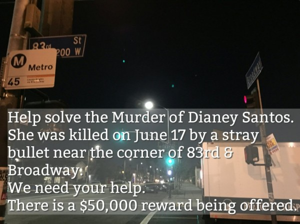 Dianey Santos Post on Twitter by LAPD - September 2016