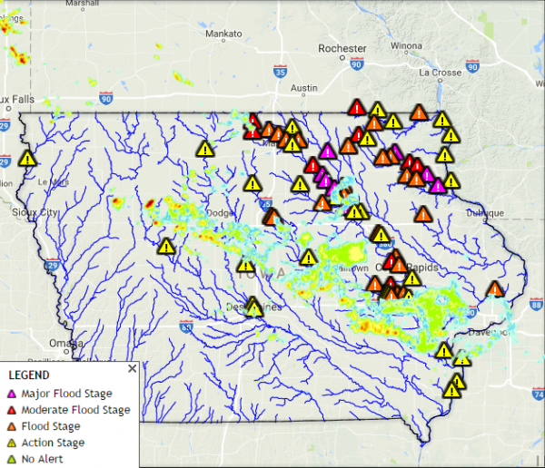 Iowa Flooding September 2016 Maps