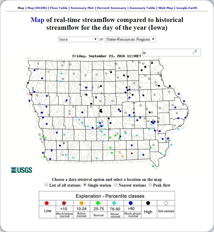 Iowa Flooding Map 2016