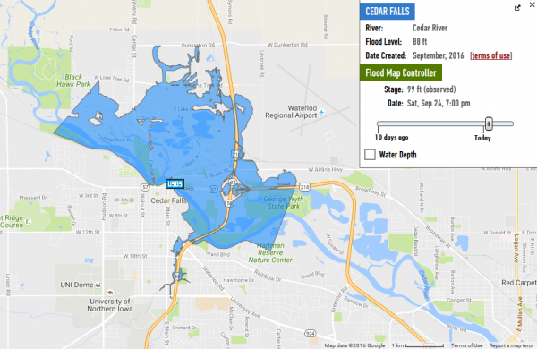 Iowa Flooding MAPS 2016: Cedar Rapids Evacuation Area and Inundation ...