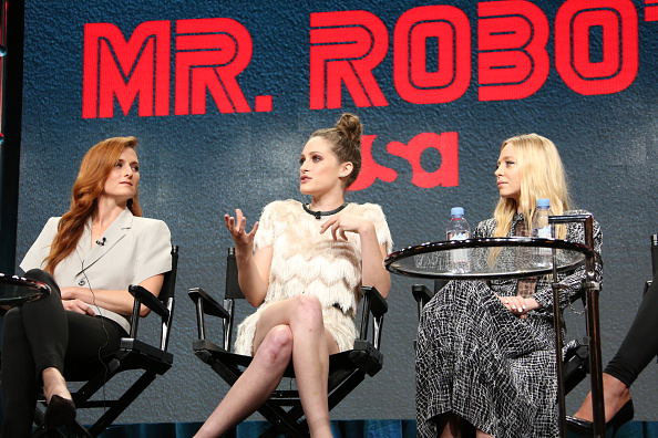 NBCUniversal Summer Press Tour, August 3, 2016 -- USA's 'Mr. Robot' Panel: 'Decoding Season_2.0 With The Women of Mr. Robot' -- Pictured: (l-r) Grace Gummer, Carly Chaikin, Portia Doubleday