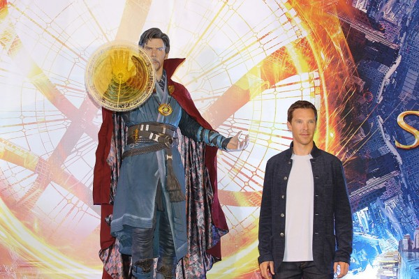 HONG KONG, CHINA - OCTOBER 13: British actor Benedict Cumberbatch attends press conference of film 'Doctor Strange' on October 13, 2016 in Hong Kong, China.