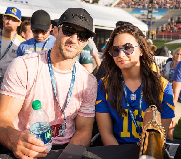 Demi Lovato and Luke Rockhold are official - well, Instagram official!