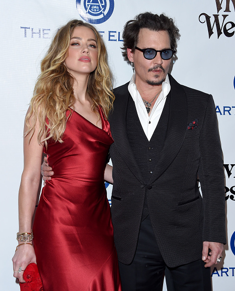 CULVER CITY, CA - JANUARY 09: Actors Amber Heard and Johnny Depp attend Art of Elysium's 9th Annual Heaven Gala at 3LABS on January 9, 2016 in Culver City, California