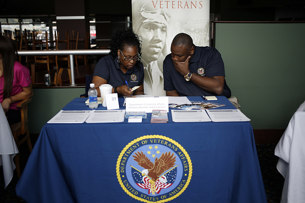Inside A Recruit Military Veterans Job Fair As Jobless Claims Figures Are Released