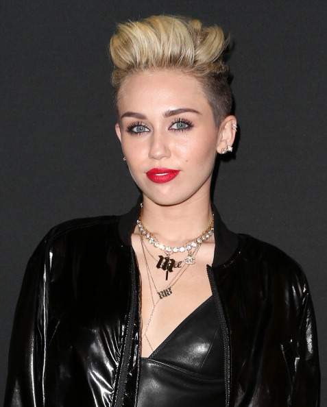 Actress/recording artist Miley Cyrus attends the Myspace Event at the El Rey Theatre