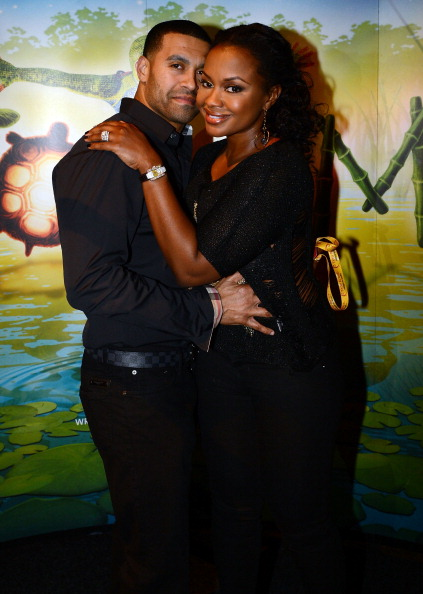 'Real Housewives of Atlanta' cast member Phaedra Parks (right) and Apollo Nida attend Cirque du Soleil TOTEM