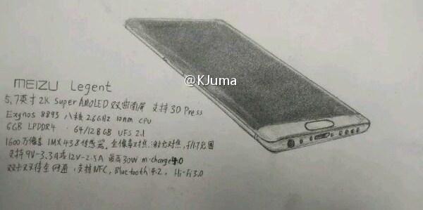 Meizu 'Legent' flagship's image leaks
