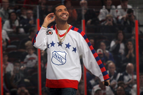 Rap artist Drake performs during the 2012 Tim Hortons NHL All-Star Game between Team Alfredsson and Team Chara at Scotiabank Place on January 29, 2012 in Ottawa, Ontario, Canada.