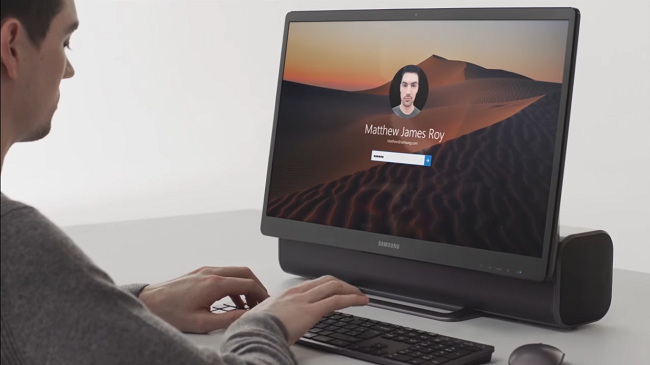 Samsung's new All-in-One is half soundbar, half a PC