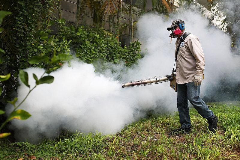 Miami Beach Sprays To Combat Zika Virus Carrying Mosquitoes