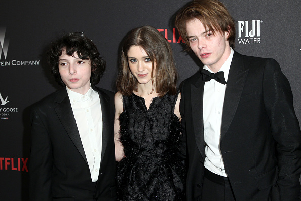 Charlie Heaton and Natalia Dyer Relationship  Dating Rumors     The Weinstein Company And Netflix Golden Globe Party  Presented With FIJI Water  Grey Goose