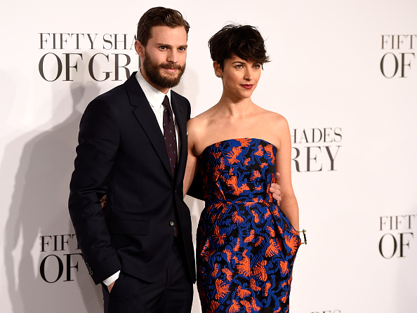 Jamie Dornan and Amelia Warner attend the UK Premiere of 'Fifty Shades Of Grey' at Odeon Leicester Square on February 12, 2015 in London, England.