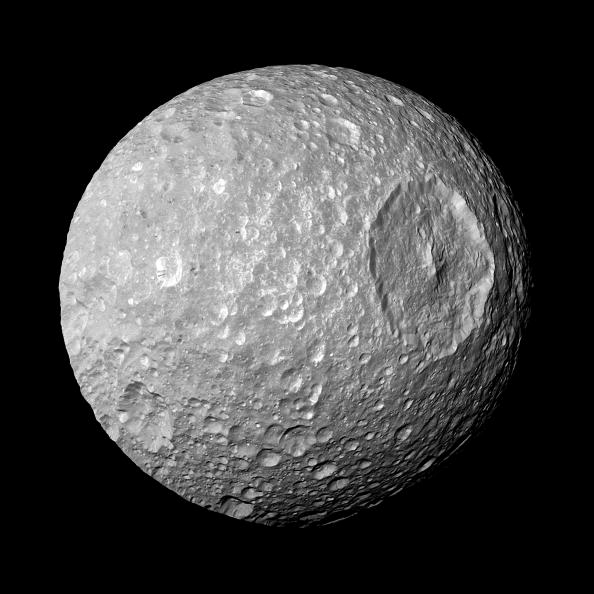 A Moon Of Saturn Looks Ominously Like The Death Star