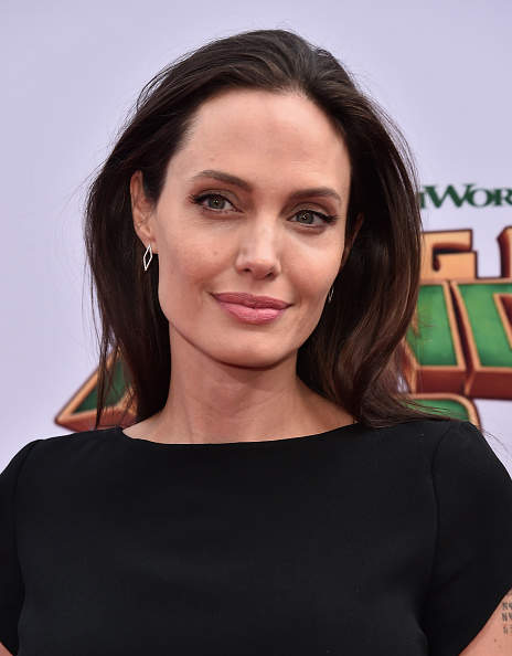 Actress Angelina Jolie attends the premiere of DreamWorks Animation and Twentieth Century Fox's 'Kung Fu Panda 3' at TCL Chinese Theatre on January 16, 2016 in Hollywood, California.
