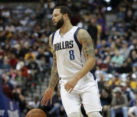 Deron Williams #8 of the Dallas Mavericks at American Airlines Center on January 22, 2017 in Dallas, Texas.
