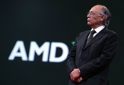 Advanced Micro Devices Chairman and CEO Hector Ruiz delivers a keynote address during the 2006 Oracle Open World conference October 23, 2006 in San Francisco, California.