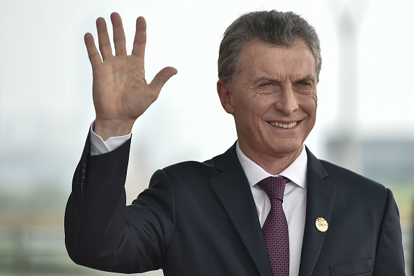 President Mauricio Macri of Argentina arrives at the Hangzhou Exhibition Center to participate in G20 Summit,