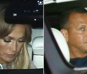 "Jennifer Lopez and Yankees star Alex ""A-Rod"" Rodriguez"