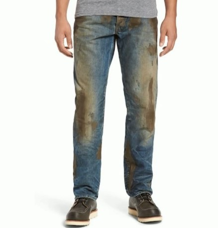 Nordstrom offering jeans with fake mud for over $400 a pair