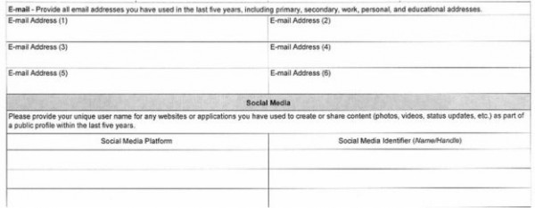 US Visa Application Now Asks for Facebook and all Social Media Profiles