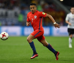 Alexis Sanchez of Chile in action during the FIFA Confederations Cup Russia 2017