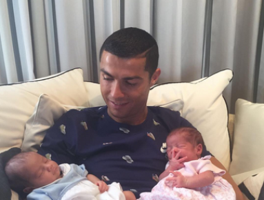Portuguese Footballer Cristiano Ronaldo Overjoyed with Twins