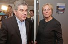IOC president Thomas Bach & Norwegian Minister of Culture, Thorhild Widvey