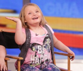 Honey Boo Boo and Mama June (Here Comes Honey Boo Boo) are guests on 'Good Morning America,' 2/5/14, airing on the ABC Television Network.