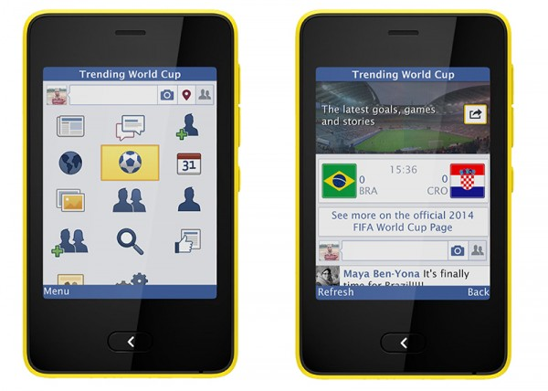 Trending World Cup is also available for feature phones running