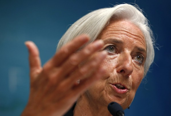 International Monetary Fund (IMF) Managing Director Christine Lagarde speaks about the IMF's annual review of the U.S. economy in Washington June 16, 2014. (Photo Credit: Reuters/Kevin Lamarque).