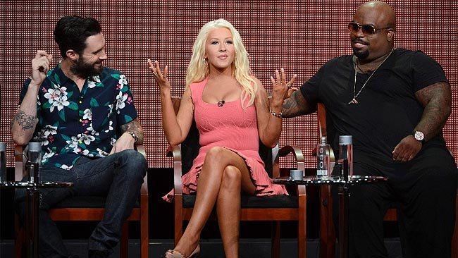 Christina Aguilera Weight Loss 2013 Pink Dress