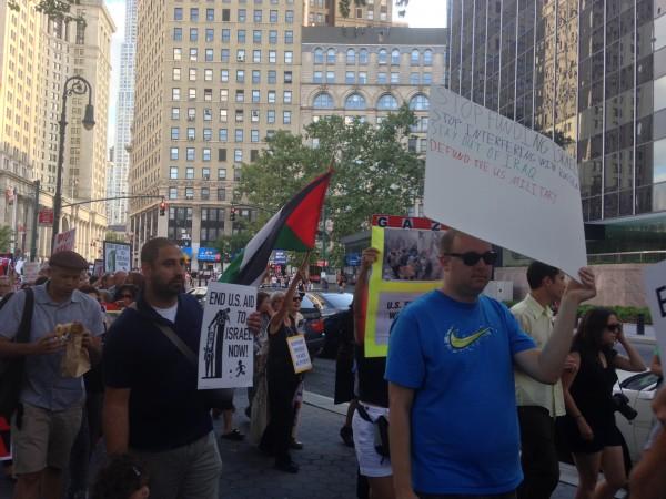 National Day of Action, NY Gaza Solidarty Rally, July 24, 2014