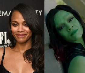 "How Did Zoe Saldana Get Her Stunning Look in ""Guardians of the Galaxy""?"