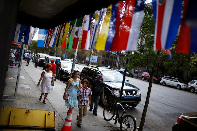 latin america harlem new york immigration flags