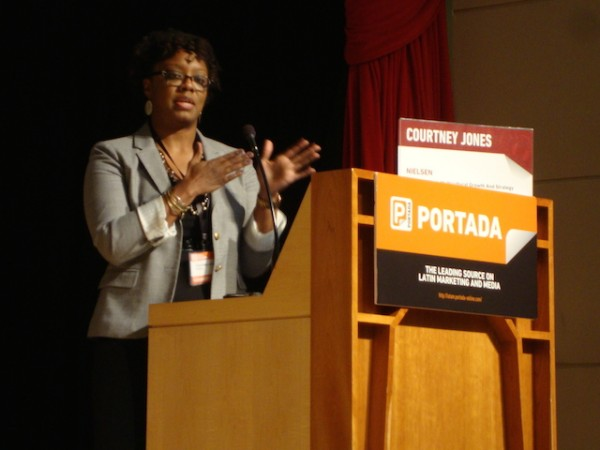 Nielsen's Vice President of Multicultural Growth and Strategy Courtney Jones at Portada's
