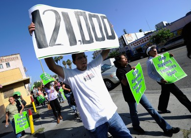 Immigrant Rights Group Protest Secure Communities Program