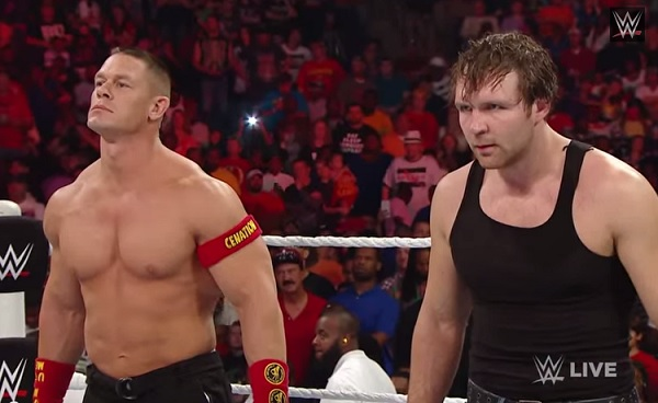Qui sera l'adversaire de Seth Rollins à Hell in a Cell?  John-cena-dean-ambrose-battle-the-authority-on-wwe-raw