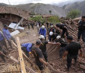 A magnitude 4.9 earthquake stuck the Cusco region of Peru, killing eight.