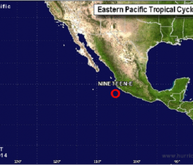 Tropical Depression Nineteen-E Map
