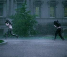 Heavy Rain as a Storm Approaches